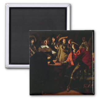 The Guards Smoking, 1643 2 Inch Square Magnet