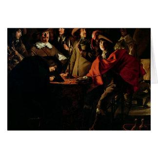 The Guards Smoking, 1643 Card