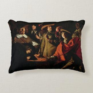 The Guards Smoking, 1643 Decorative Pillow