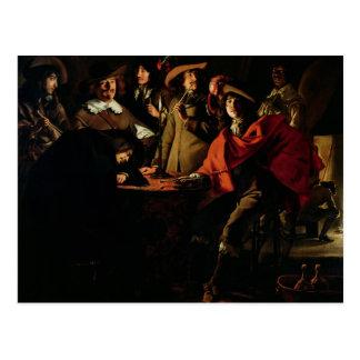The Guards Smoking, 1643 Postcard