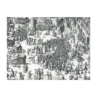 The Guilbray Fair and the Cattle Market Canvas Print
