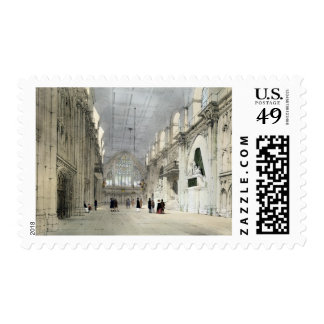 The Guildhall, Interior, from 'London As It Is', e Postage Stamp