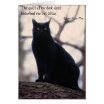 The Guilt Of My Dark Deed... Greeting Cards