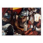 'The Guinea Hen Got Loose' Kwanzaa card
