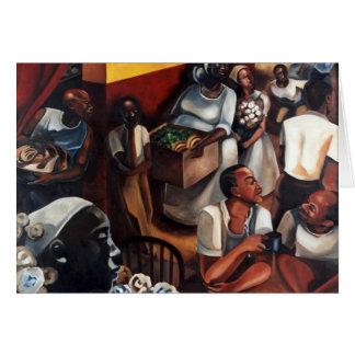 'The Guinea Hen Got Loose' Kwanzaa greeting card