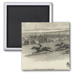 The Guinea Race, Newmarket 2 Inch Square Magnet