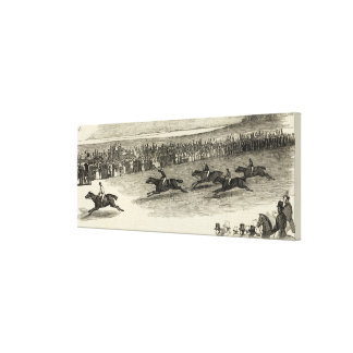 The Guinea Race, Newmarket Canvas Print