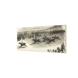 The Guinea Race, Newmarket Canvas Print