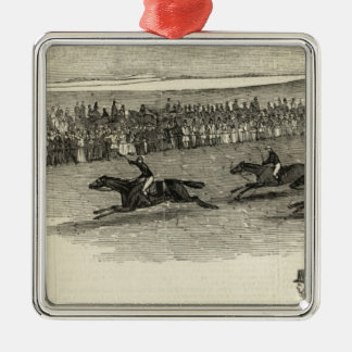 The Guinea Race, Newmarket Metal Ornament