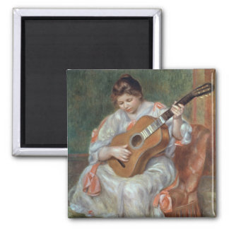 The Guitar Player, 1897 2 Inch Square Magnet