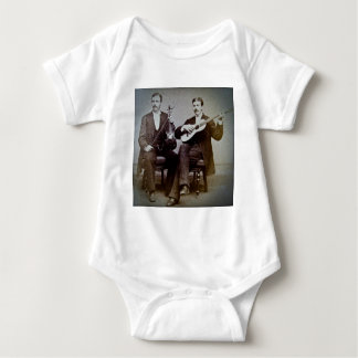 The Guitar Player and the Violinist Vintage Baby Bodysuit