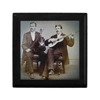 The Guitar Player and the Violinist Vintage Keepsake Box