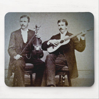 The Guitar Player and the Violinist Vintage Mouse Pad