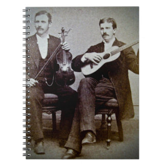 The Guitar Player and the Violinist Vintage Notebooks