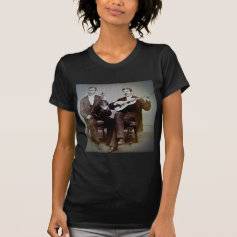 The Guitar Player and the Violinist Vintage Shirts