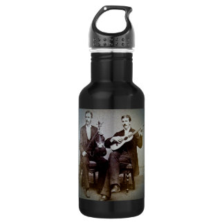The Guitar Player and the Violinist Vintage Stainless Steel Water Bottle