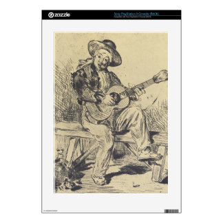 The guitar Player by Edouard Manet Skins For PS3 Console