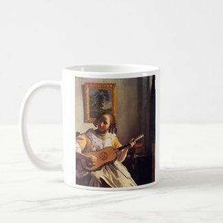 The guitar player by Johannes Vermeer Coffee Mug