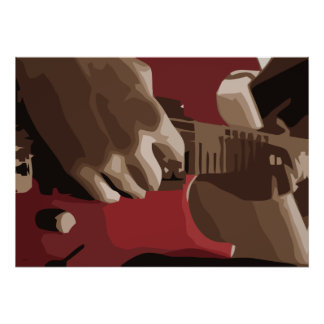 The Guitar Player Poster