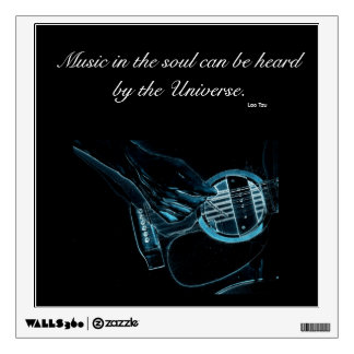 The Guitar Player Wall Decal
