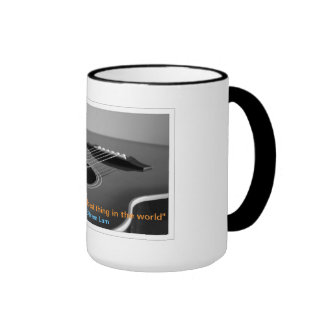The Guitarist Mug with Quote