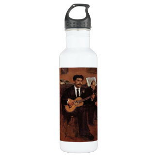 The guitarist Pagans and Monsieur Degas by Manet 24oz Water Bottle