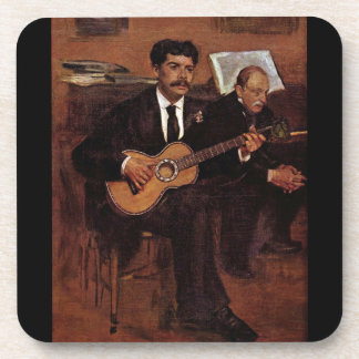 The guitarist Pagans and Monsieur Degas by Manet Drink Coaster