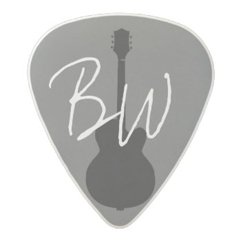 The Guitarist Personalized Acetal Guitar Pick by mixedworld at Zazzle