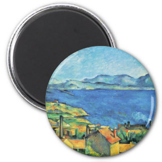 The Gulf Of Marseille Seen From L'Estaque 2 Inch Round Magnet