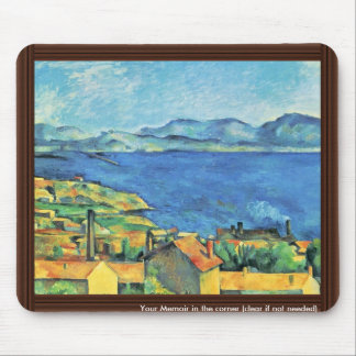 The Gulf Of Marseille Seen From L'Estaque Mouse Pad