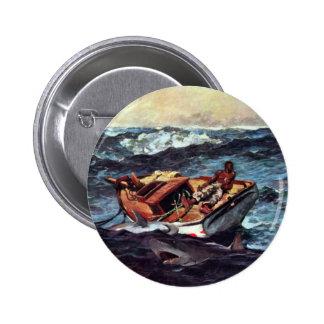 The Gulf Stream Gulf Stream By Homer Winslow 2 Inch Round Button
