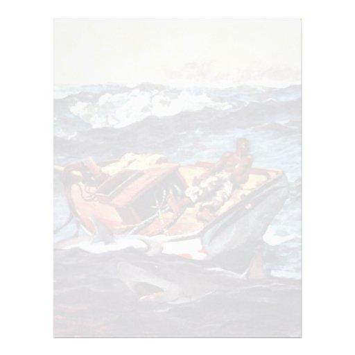 The Gulf Stream Gulf Stream By Homer Winslow Custom Letterhead