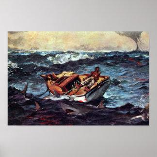 The Gulf Stream Gulf Stream By Homer Winslow Poster