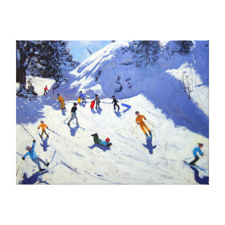 The Gully Belle Plagne 2004 Canvas Print