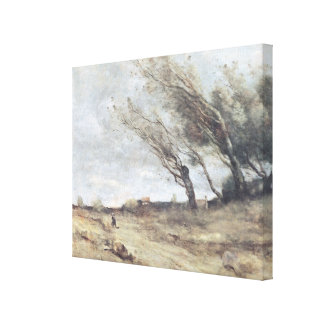 The Gust of Wind, c.1865-70 Canvas Print