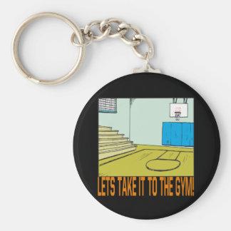 The Gym Basic Round Button Keychain