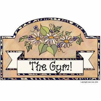 """The Gym"" - Decorative Sign Acrylic Cut Out"