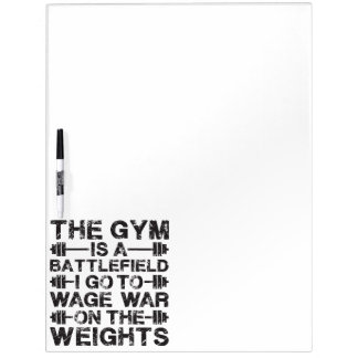 The Gym Is A Battlefield - Workout Motivational Dry-Erase Board