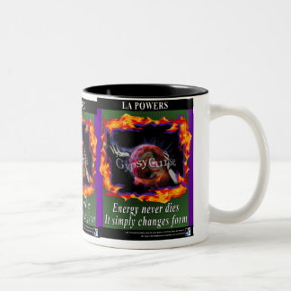 The Gypsy Curse energy Never dies 2-tone mug