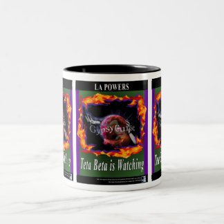 The Gypsy Curse Teta Beta is Watching 2-tone mug