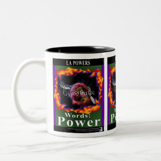 The Gypsy Curse Words Power 2-tone mug