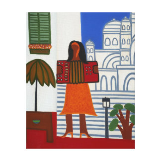 The Gypsy Girl in Front of Sacre Coeur 2006 Canvas Print