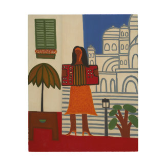 The Gypsy Girl in Front of Sacre Coeur 2006 Wood Wall Art