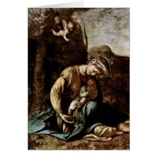 The Gypsy Madonna By Antonio Allegri Da Correggio Card
