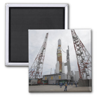The H-IIB rocket on the launch pad 2 Inch Square Magnet