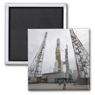 The H-IIB rocket on the launch pad Fridge Magnet