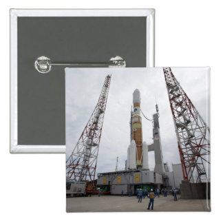 The H-IIB rocket on the launch pad Pinback Button