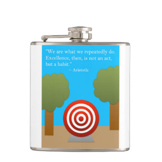 The Habit of Excellence Hip Flask
