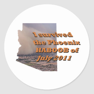 The Haboob of Phoenix July 2011 Classic Round Sticker
