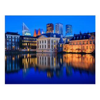The Hague skyline at blue hour postcard